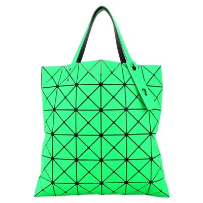 ISSEY MIYAKE 三宅一生 BAOBAO 斜紋三角方格6x6透光手提包-綠