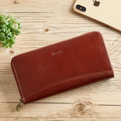FOCUS義大利真皮造型大零錢袋長夾(FTC3673)