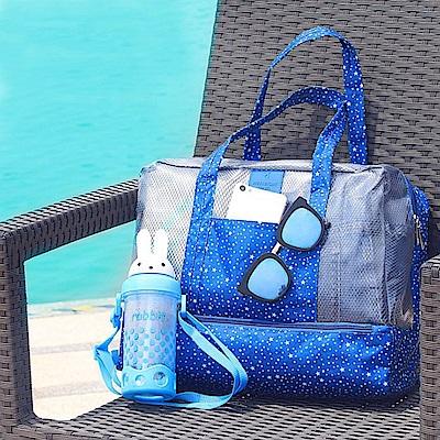 【暢貨出清】JIDA 420D防水小清新雙層乾濕兩用手提收納袋/戶外包(4色)