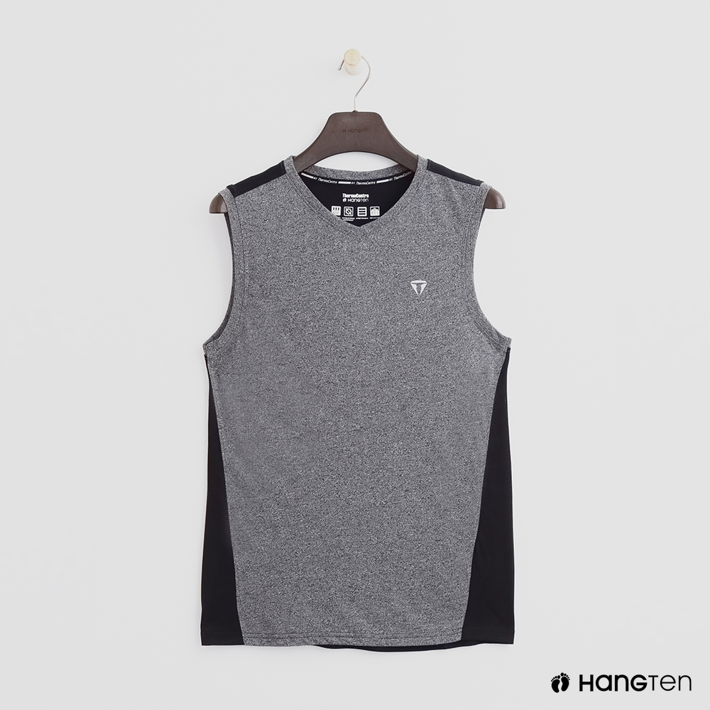 Hang Ten-男裝-ThermoContro-撞色拼接造型背心-灰色