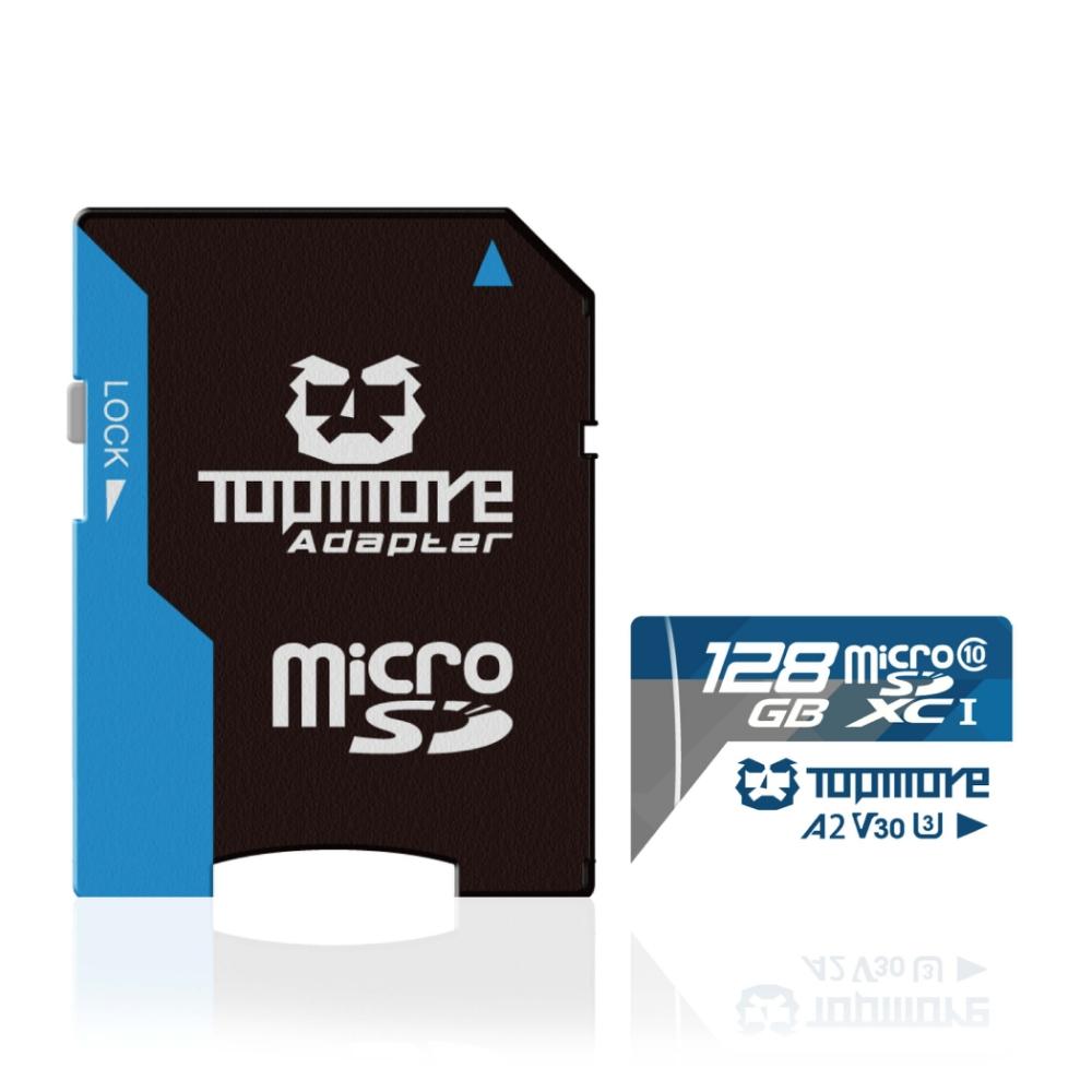達墨 TOPMORE 128GB MicroSDXC UHS-I U3 A2 V30 Class10 記憶卡