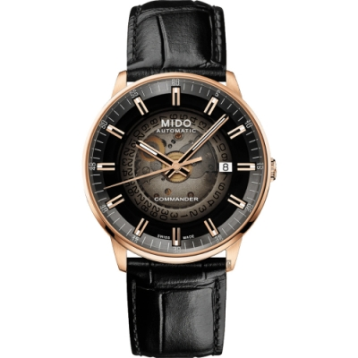 MIDO 美度 COMMANDER 香榭系列漸層機械錶-40mm M0214073641100