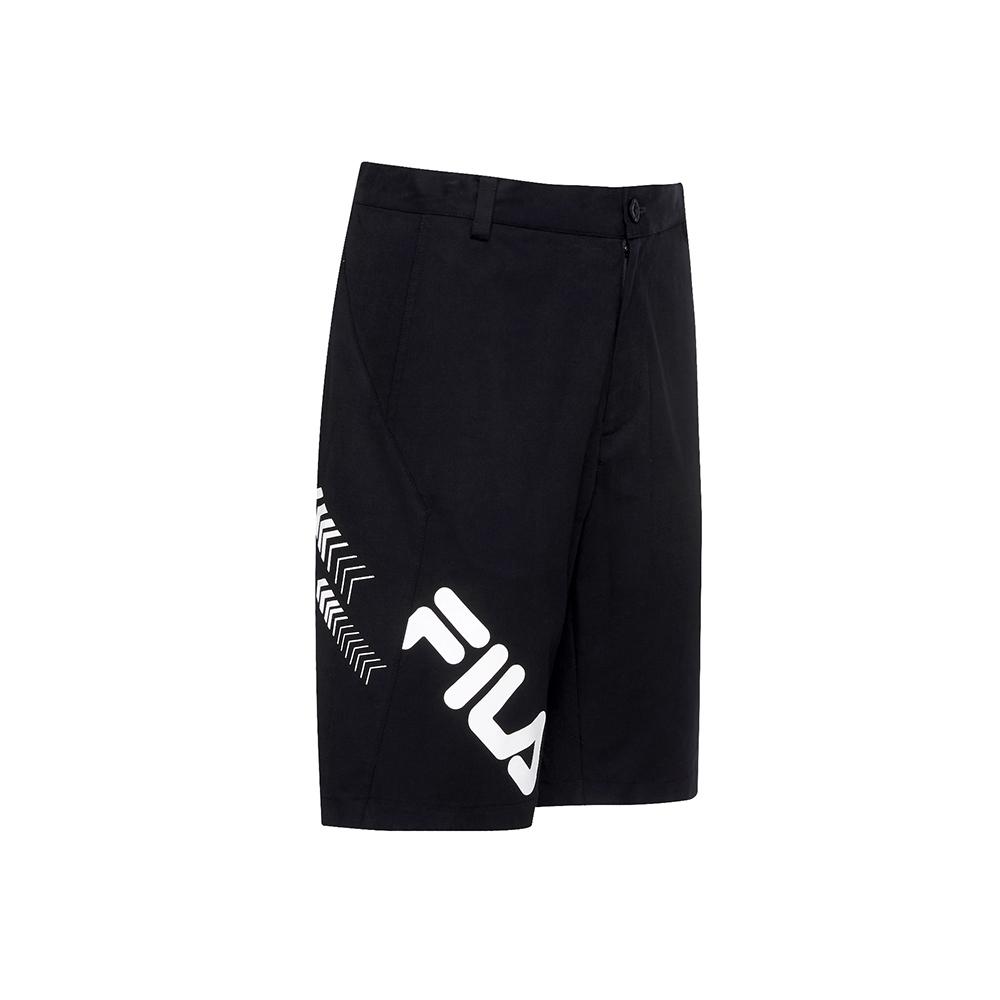 FILA 男平織短褲-黑色 1SHU-1487-BK