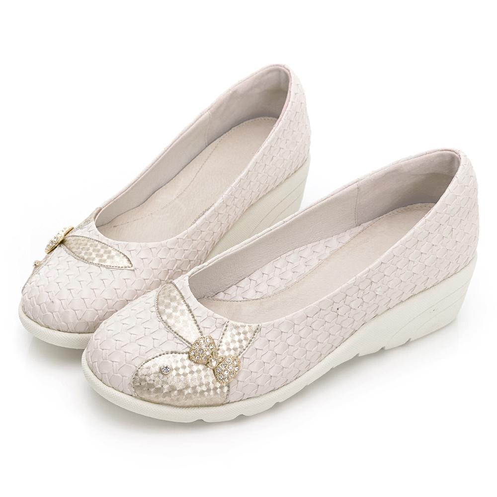 PLAYBOY GOPLAY Charming專利娃娃鞋-米-Y729233