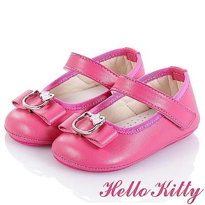 (雙11)HelloKitty 高級超纖透氣皮學步童鞋-桃(幼童)