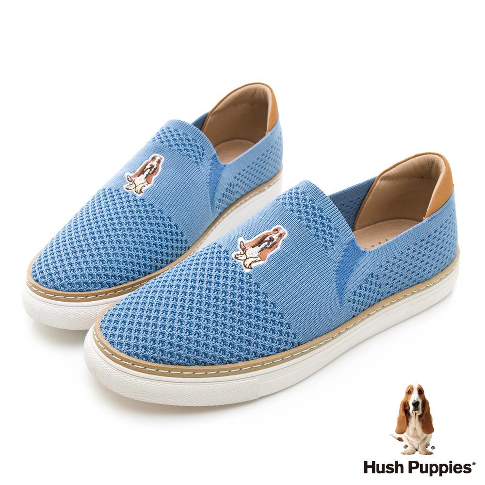 Hush Puppies Puppy 針織直套便鞋-藍