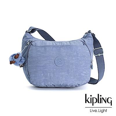 Kipling 溫柔粉藍雙層側背包-CAI