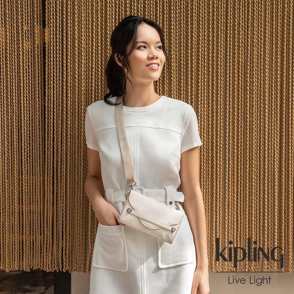 Kipling 氣質珍珠白信封造型小包-LELIO