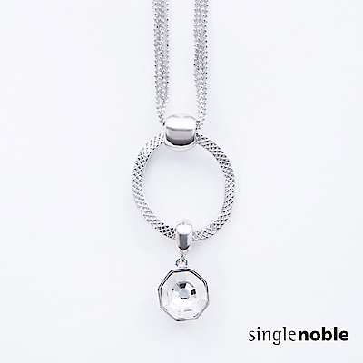 獨身貴族 星空對話不規則圓環水晶綴飾項鍊(1色)