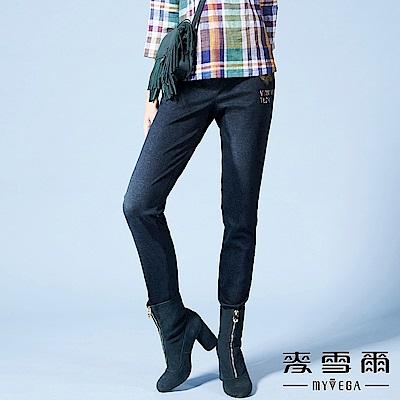 【麥雪爾】質感蝴蝶刺繡前後雙口袋長褲