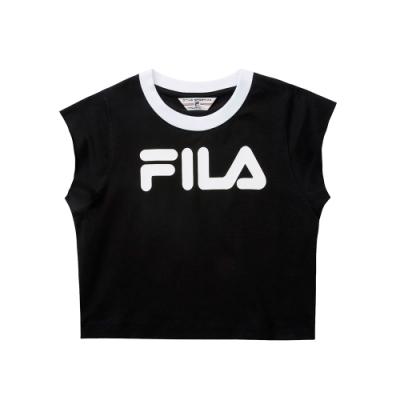 FILA #LINEA ITALIA 短袖圓領T恤-黑 5TET-5417-BK