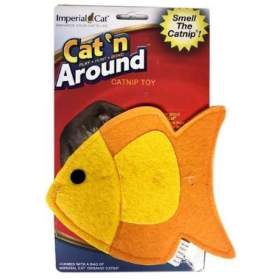 美國Imperial Cat貓大帝Cat n Around-貓草玩具-大黃魚 兩入組