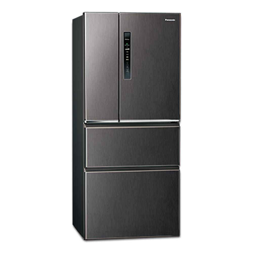 Panasonic國際牌610L四門變頻冰箱 NR-D610HV-V 絲紋黑