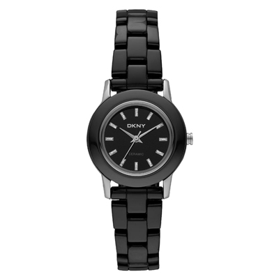 DKNY 黑色前衛陶瓷腕錶(NY8296)-黑/27mm