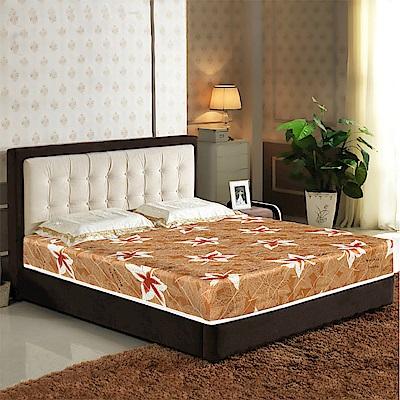 艾維斯楓葉印花護背式冬夏兩用彈簧床墊-雙人5尺