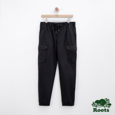 男裝Roots 平織工作長褲-黑