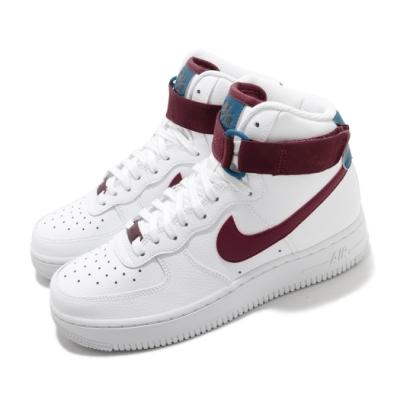 Nike 休閒鞋 Air Force 1 High 運動 女鞋 基本款 簡約 皮革 質感 球鞋 穿搭 白 紅 334031119