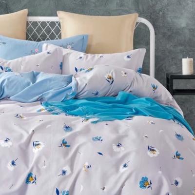 戀家小舖 / 單人床包枕套組 雪花森林 100%精梳純棉