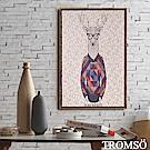 TROMSO 北歐風尚板畫有框畫-格調麋鹿WA84