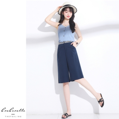 2F韓衣-韓系素色舒適闊腿褲-2色(S~2XL)