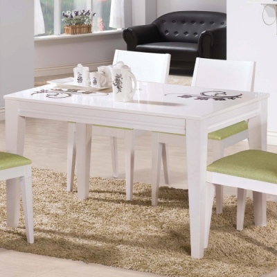 H&D 可莉亞白色石面餐桌