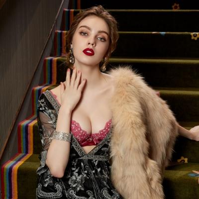 曼黛瑪璉 Marie One 刺繡蕾絲內衣 B-E罩杯 (時髦紫)