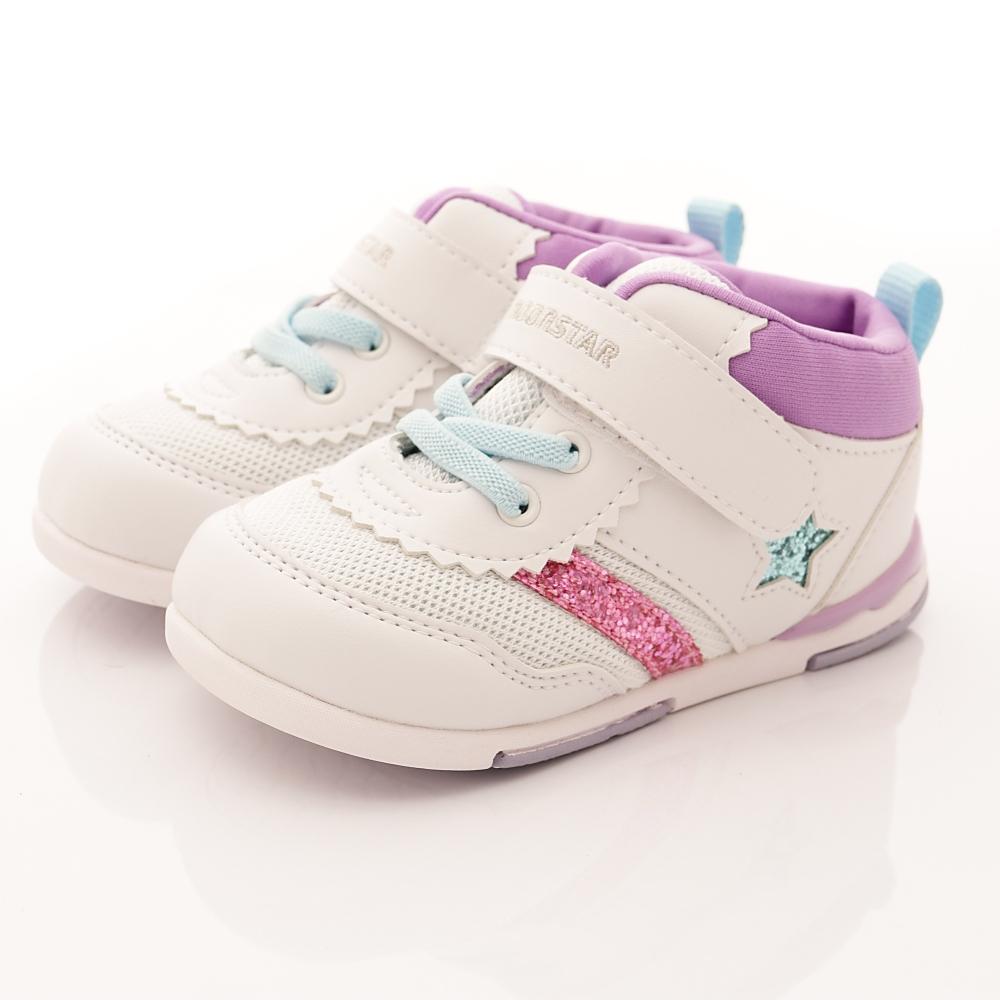 零碼18cm-日本Carrot機能童鞋 HI系列鞋款 B953白紫