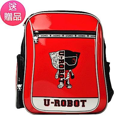 UnMe 3233機器人後背書包-鏡面紅