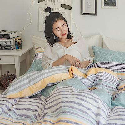 翔仔居家 台灣製 100% 精梳純棉薄被套床包3件組 - 單人(Colorful)