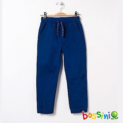 bossini男童-輕鬆束口長褲04海藍