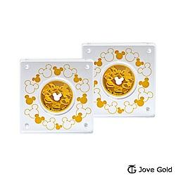 Disney迪士尼金飾 迪士尼經典鎖片金幣-0.20錢x2
