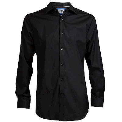 CR7-長尖領經典素面襯衫-黑(8600-73-11)