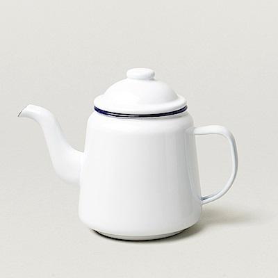 英國Falcon 獵鷹琺瑯 琺瑯茶壺 藍白