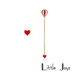 Little Joys 原創設計品牌 Heart Balloon 不對稱耳釘 紅白長款