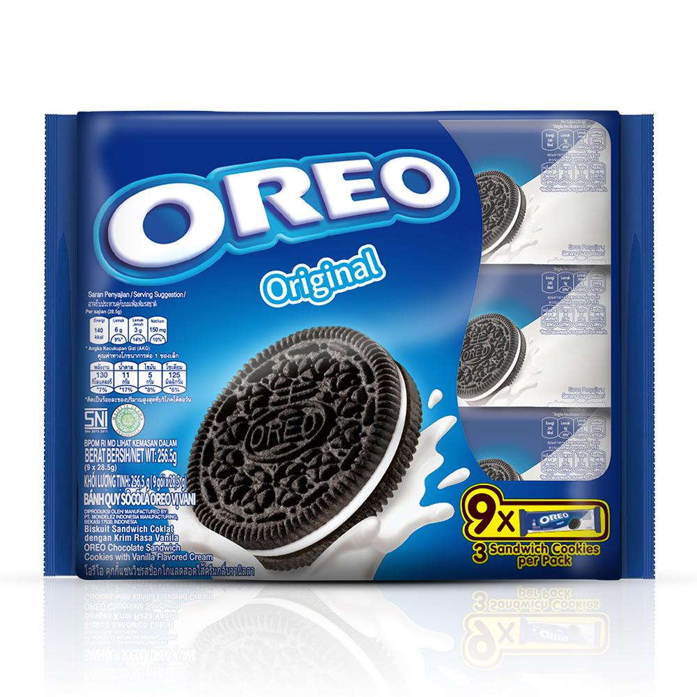 OREO奧利奧原味夾心餅乾-香草口味夾心隨手包(28.5gX9包)