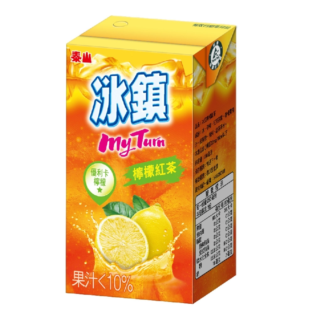 泰山 冰鎮檸檬紅茶(300mlx6入)