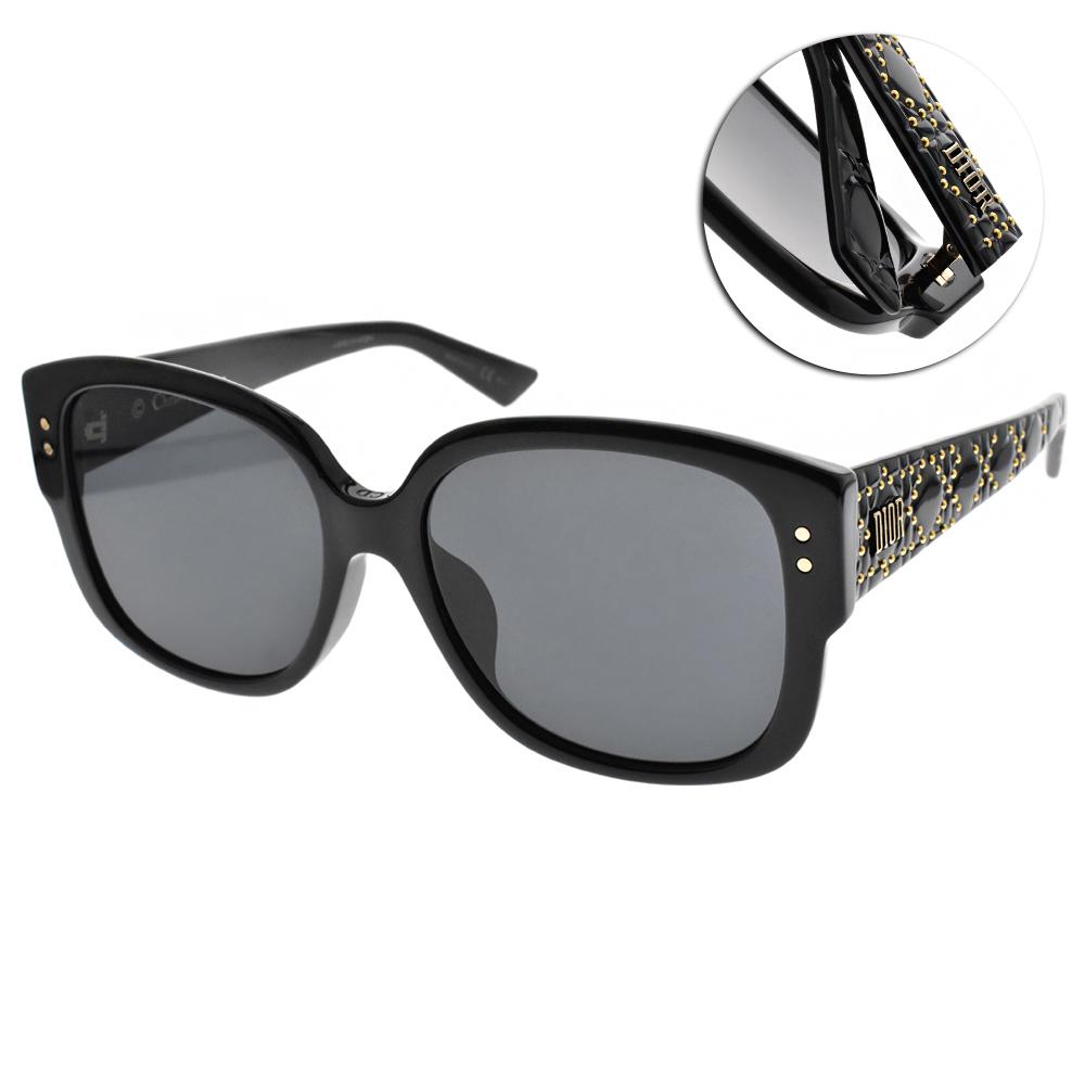 DIOR太陽眼鏡 街頭女王款/琥珀-綠 #LADY DIOR STUDS F 8072K