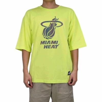 NBA Style C S T-SHIRTS 反光隊徽 短袖上衣 熱火隊