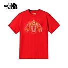 【新年限定】The North Face北面男女款紅色舒適短袖T恤|4UC5682