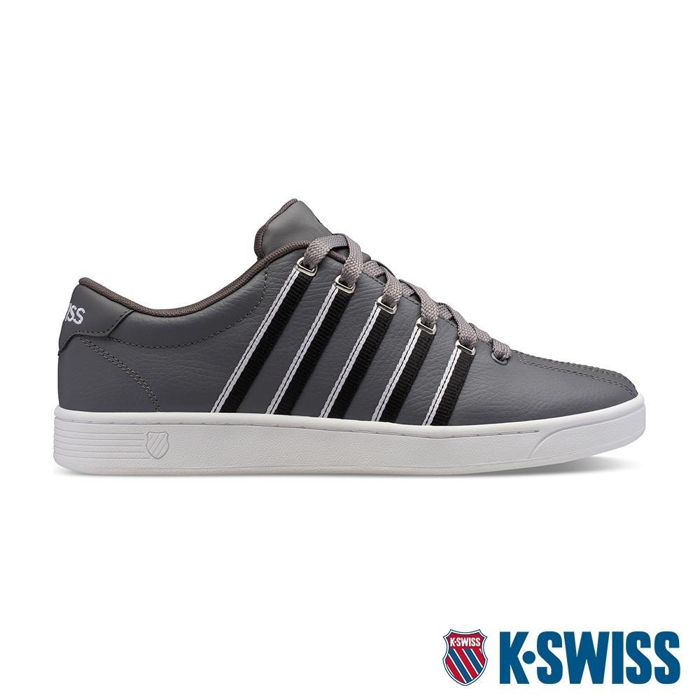 K-SWISS Court Pro II時尚運動鞋-男-灰/黑/白