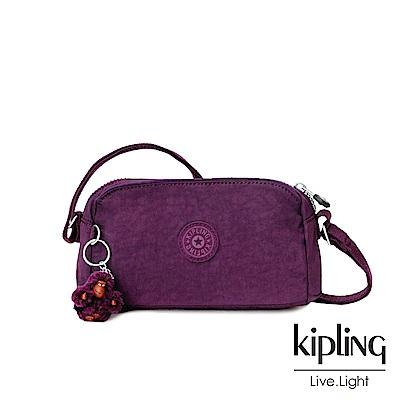 Kipling 深紫素面輕巧斜背小包-NEW ABELA