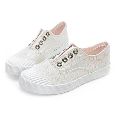 PLAYBOY 亮蔥潮流系餅乾鞋-白-Y521111