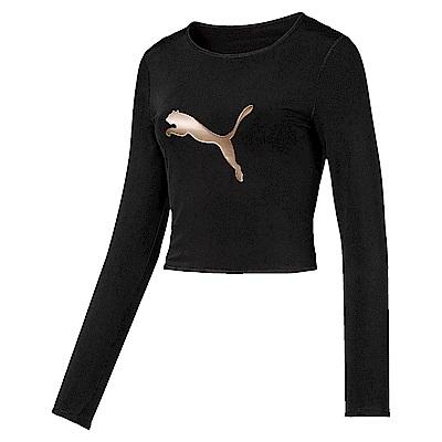 PUMA-女性訓練系列大網洞長薄T恤-黑色-亞規