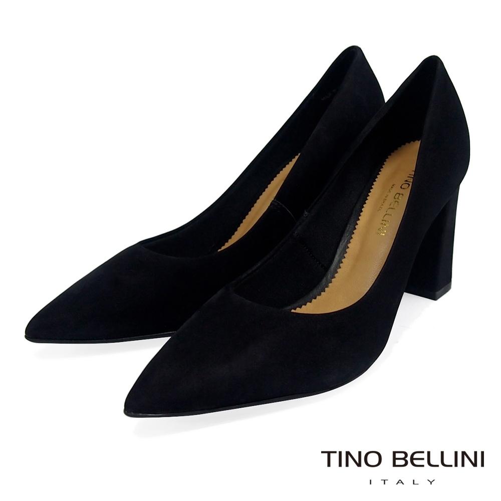 Tino Bellini巴西進口氣勢姿態8cm跟鞋_黑