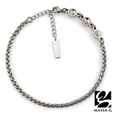 MASSA-G【Hermes】荷米斯之鍊金屬鍺錠白鋼腳鍊