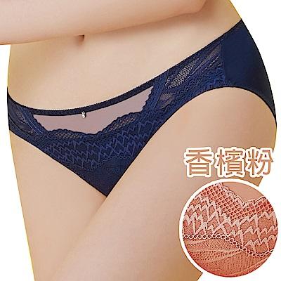 思薇爾 啵時尚系列M-XXL蕾絲中低腰三角內褲(香檳粉)