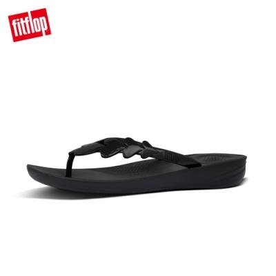 FitFlop IQUSHION VALENTINE FLIP-FLOPS 愛心裝飾輕量人體工學戲水夾腳涼鞋-女(靓黑色)