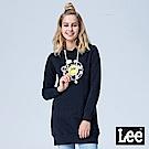 Lee LEE X SMILEY聯名長版連帽長袖厚TEE-黑色
