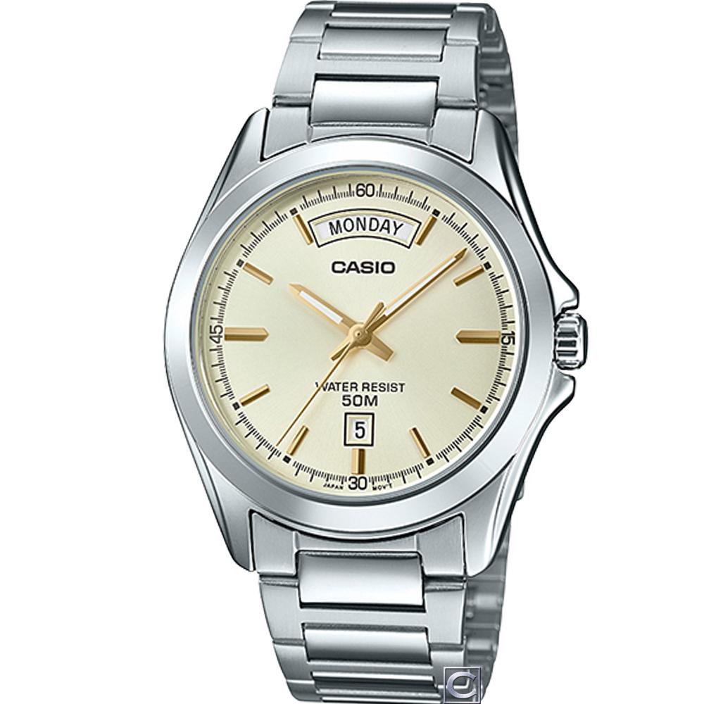 CASIO  俐落型男時尚腕錶(MTP-1370D-9A)39.8mm @ Y!購物