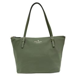 Kate spade maya 金屬logo尼龍肩背托特包-橄欖綠
